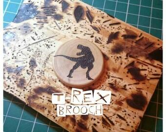 T-rex Brooch, Dinosaur Brooch