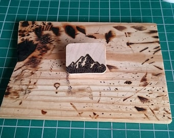 Wooden Mountains Brooch