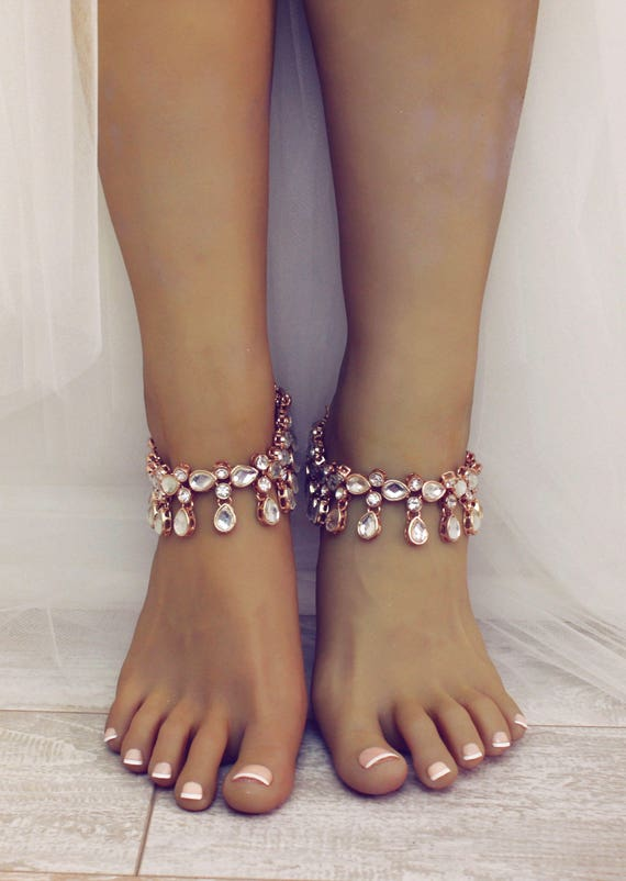 5ebc1c3111ffd5 Nikita Gold Anklets Bridal Jewelry Foot Jewelry Gold Slave