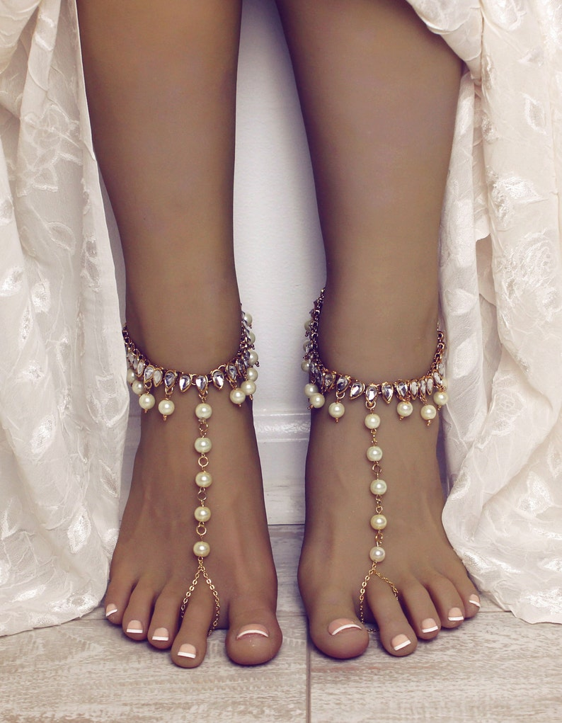 d9485399171ab0 Cabo Barefoot Sandals Foot Jewelry for the Bride Beach Wedding