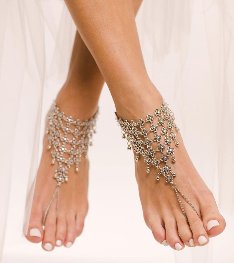567b8752153927 Statement Barefoot Sandals Tribal Anklet Boho Foot Jewelry