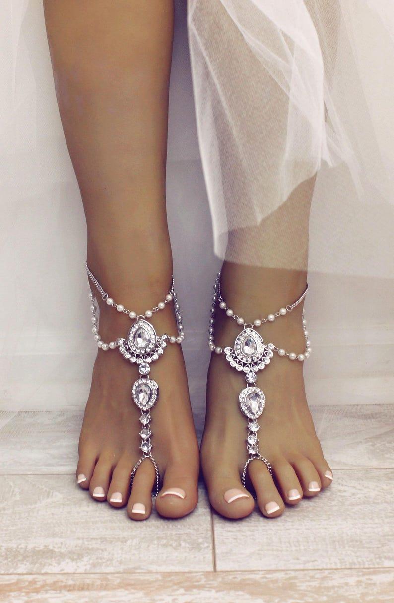 39644be07 Barefoot Sandals Scarlet Design Beach wedding Sandals Foot