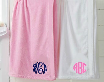 Monogrammed Towel Wrap | Personalized Bath Spa Wrap | Perfect for bridal parties, spa parties, gifts, bridesmaids