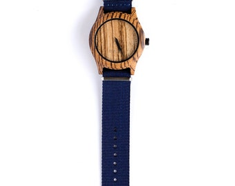 Watch / Zebrano Wood / Adventurer / Wooden Watch / Eco Watch / watches / Wrist watches / Watches for men / Wood watch / Gift for men / Gifts