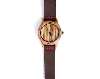 Watch / Zebrano Wood / Origins / Wooden Watch / Eco Watch / watches / Wrist watches / Watches for men / Wood watch / Gift for men / Gifts