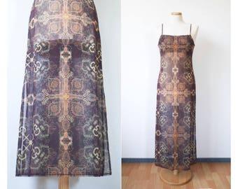 S Uk8 Obliging Womens Lanvin Paris Vintage Skirt Long France Designer Size 38