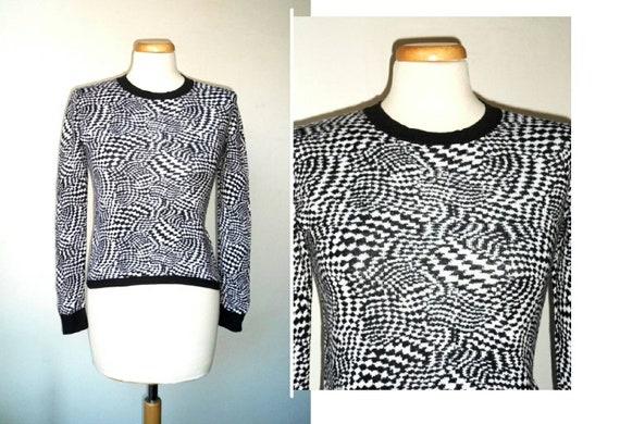 90s Y2K French Designer Manoukian Black White Op A