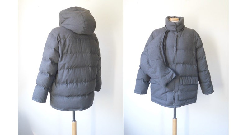 7ac0c08ae 90s MONCLER Gray 100% Wool Feather Down Filled Removable Hood | Etsy