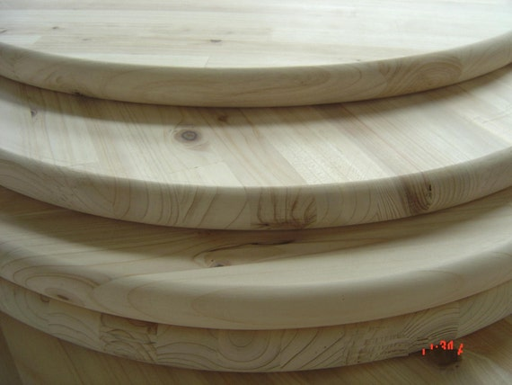 Merveilleux Unfinished Pine Round 18 For Table Top Sign Or Serving