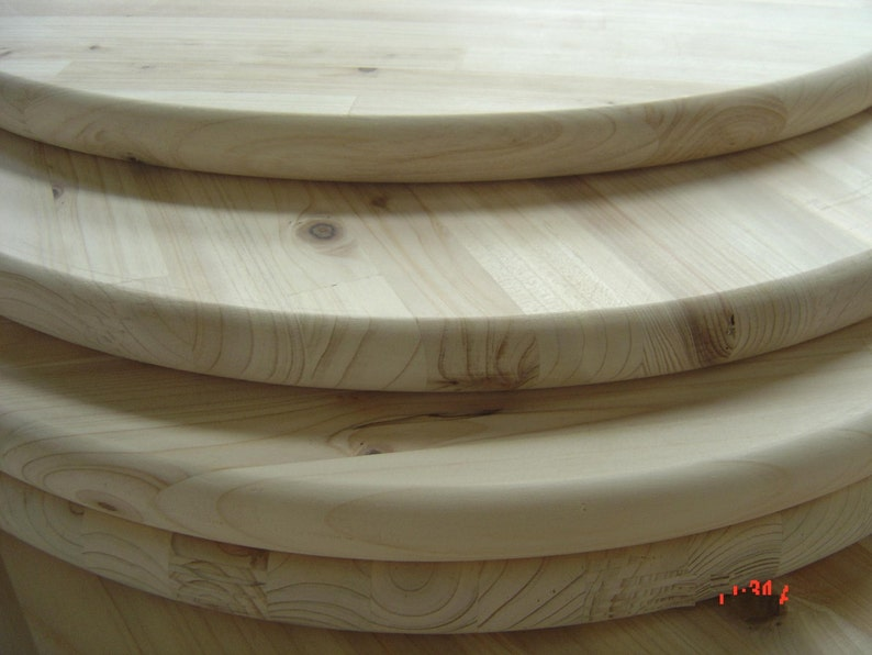 Unfinished Pine Round 18 For Table Top Sign Or Serving Etsy