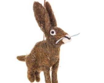 Herbert the Hare - Woodland - Countryside - Needle felt - Fair trade - Handmade - Biodegradable - Eco - Handmade