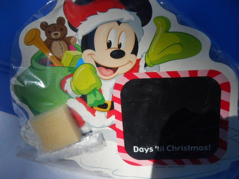 How Long Till Christmas.Mickey Mouse Santa Days Till Christmas Countdown Board