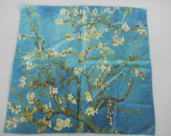 Flowers Tree Branches Floral Blossom Bandana Head Wrap Scarf Polyester Bandanna