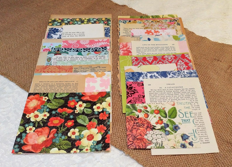 Vintage Book Pages Pack Journals Text only pages Scrapbooks Crafts 75 pages
