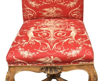 Minton Spidell l'Avant Side Chair W Dessin Fournir Red Toile