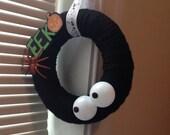 Halloween Haunted House Yarn Wreath