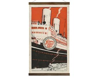Atlantic Coast Line Travel Poster, Free Shipping