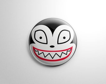 nightmare before christmas scary teddy vampire kitty button keychain