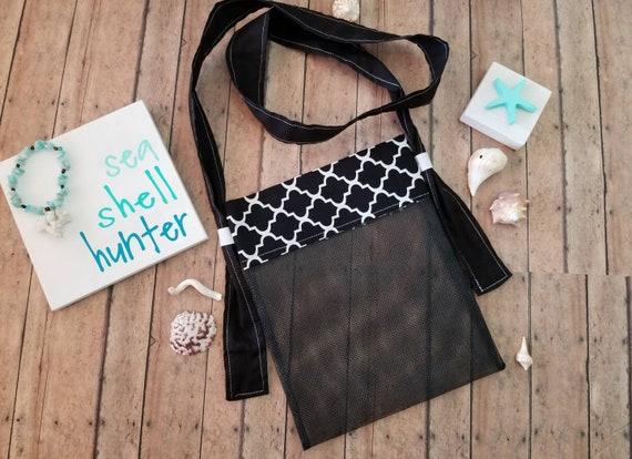 Beach shell bag Beach shell collecting bag Sea shell mesh bag,Kids shell bag Sea shell bag shell collecting Sea glass collecting bag
