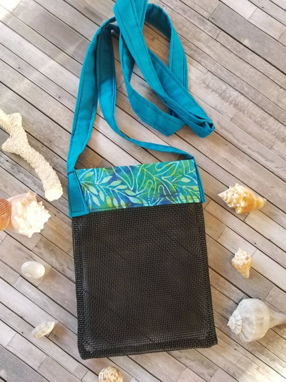 262886345d89 Shell Collecting Bag Shell Bag Sea Glass Collecting Tote