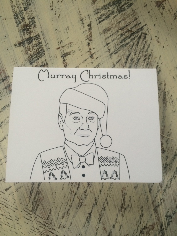 Murray Christmas Bill Murray Christmas Card | Etsy