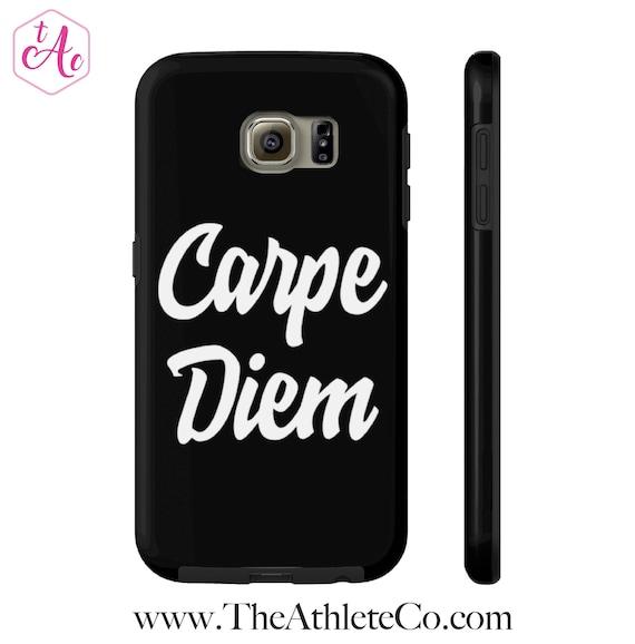 Carpe Diem Phone Case Black Carpe Diem Design Seize The Day Etsy