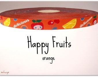 """2 meter weave """"Happy Fruits"""" orange (1.50 Euro/meter)"""