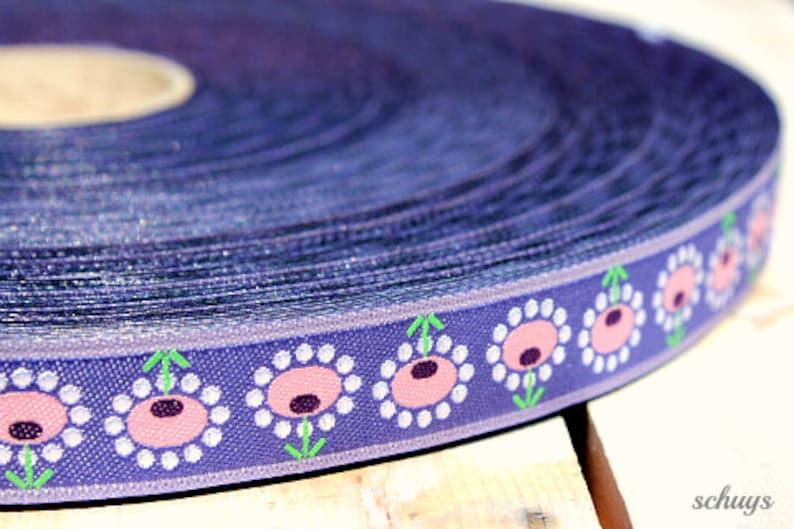 2 meters WEBBAND Bloomen lilac 1.50 Euro/meter image 1