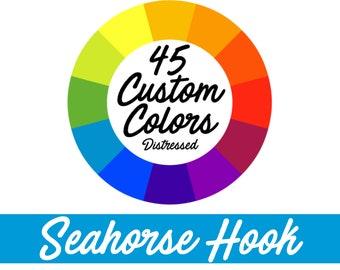 45 CUSTOM COLORS, Cast Iron Seahorse, Seahorse Hook, Beach Decor, Nautical Hook, Nautical Decor, Nautical Nursery, Coastal, DISTRESSED