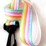 Ribbon Lanyard for Conventions - Kawaii Pastel Rainbow and Stars - Furry Anime Fursuit Furries