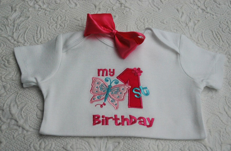 butterfly birthday shirtbutterfly partybirthday shirt1st image 0