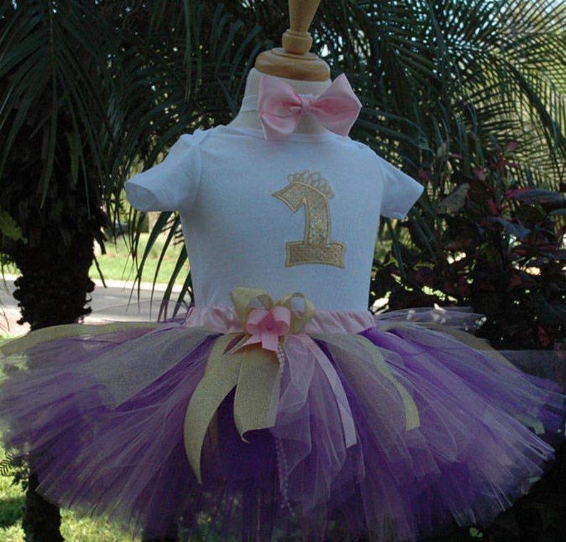 purple and gold birthday girl tutu outfit girl1st image 0