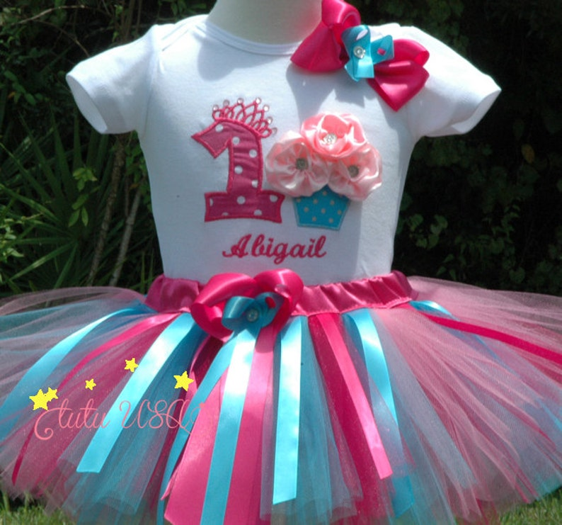 Cupcake Birthday Tutu Outfit.Fun Cupcake 1st Birthday Girl image 0
