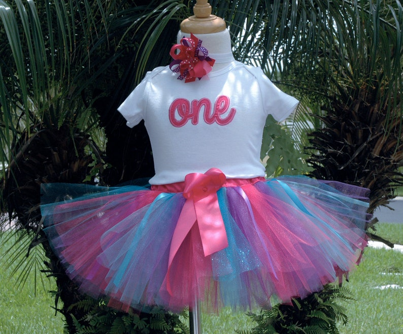 1st birthday girl outfitone year old girl  tutu outfitfirst image 0