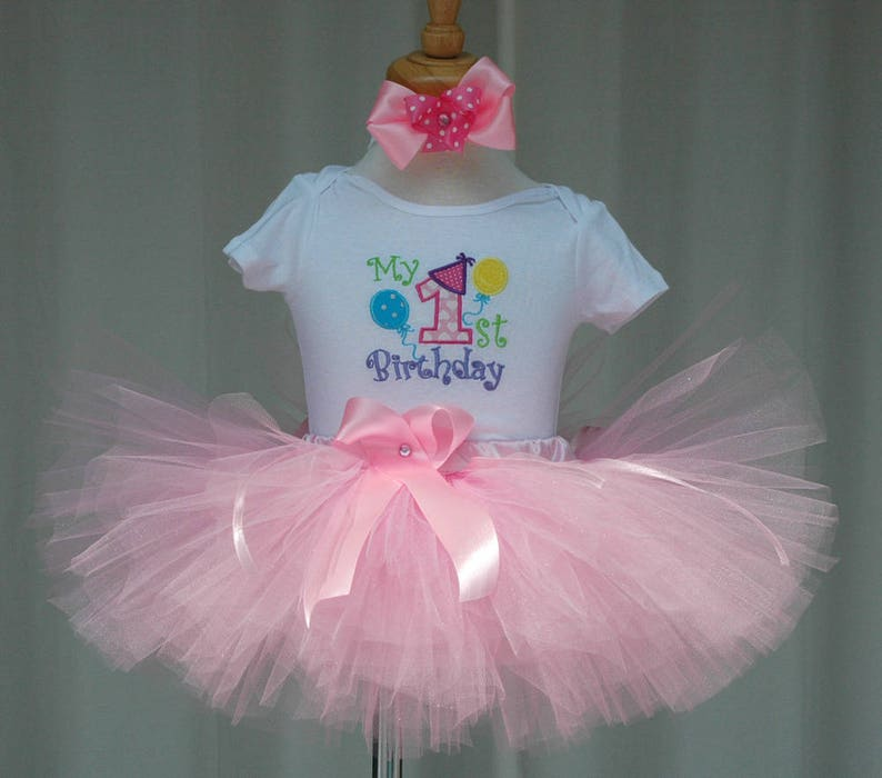 baby girl 1st birthday tutu outfitMy 1st Birthday Girl Tutu image 0
