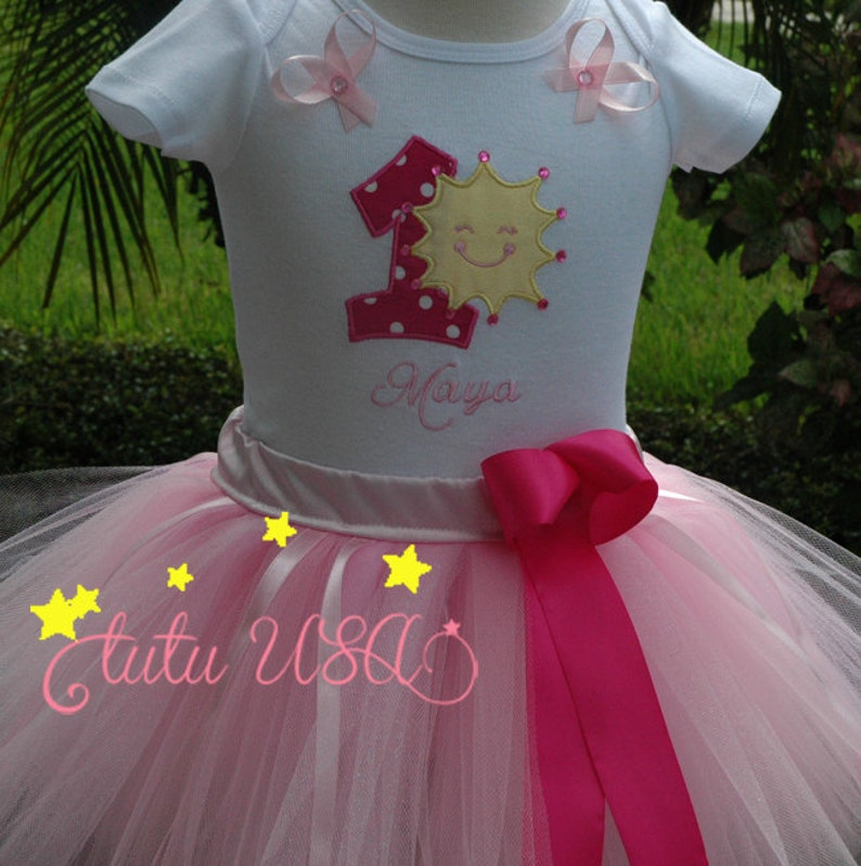 1st birthday girl outfit sunshine baby 1st tutu outfityou image 0