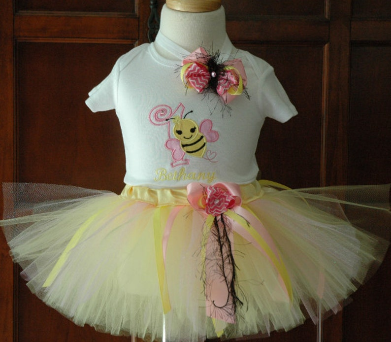 bumble bee 1st birthday girl outfitIts my Bee Day Bumble bee image 0