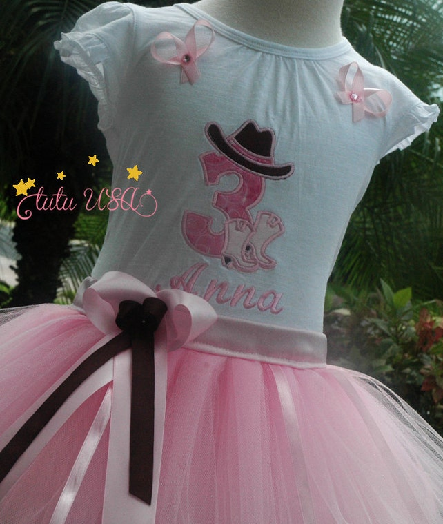Cowgirl Birthday Boots And Hat Tutu