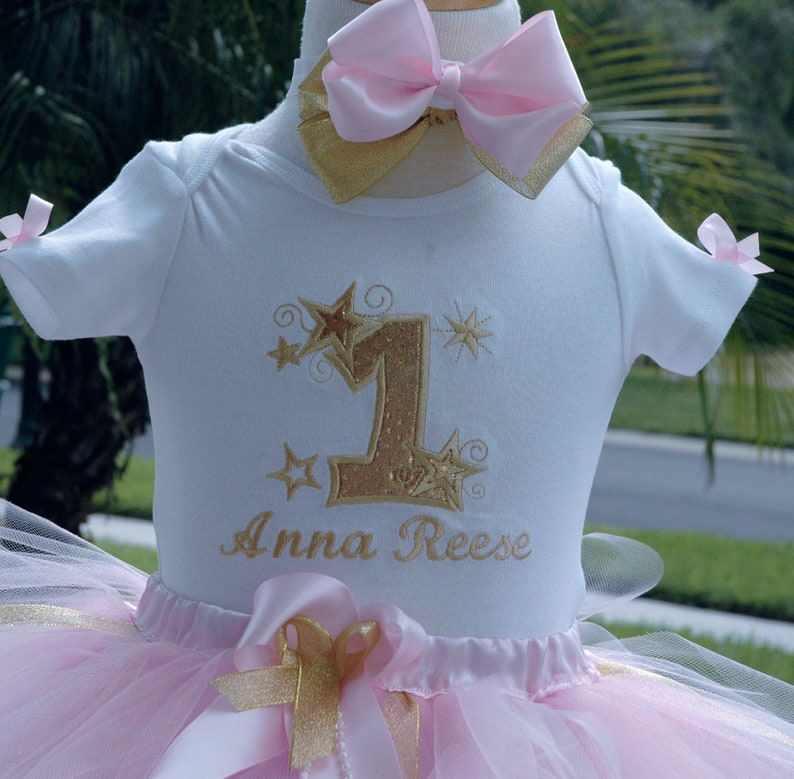 424fa4beb Twinkle twinkle little star 1st birthday outfit Pink and Gold | Etsy