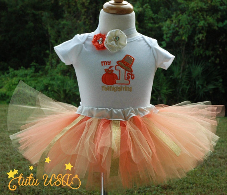 1st Thanksgiving Outfit Girl Girls 1st Thanksgiving ShirtFun image 0