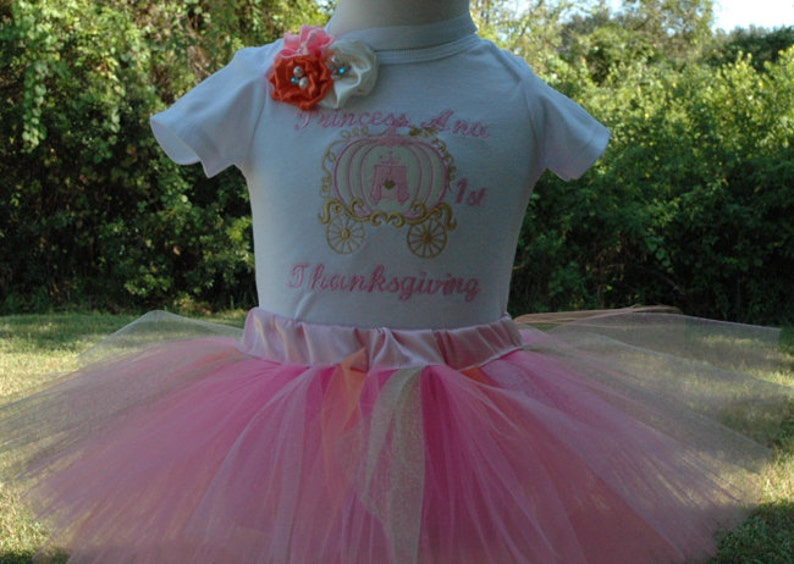 Pink and Gold Baby Girl1st Birthday Princess Coach Onesie image 0