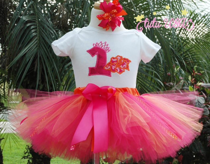 Hawaiian 1st Birthday GirloutfitLuau 2nd birthdayShirtone image 0