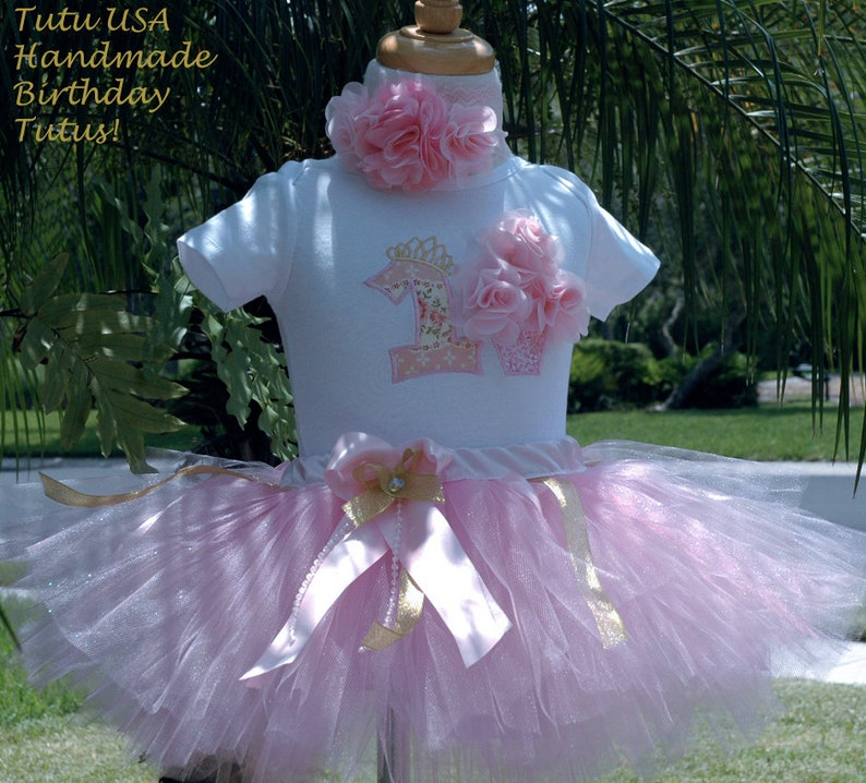 1st birthday girl tutu outfitflower 1st birthday outfit image 0