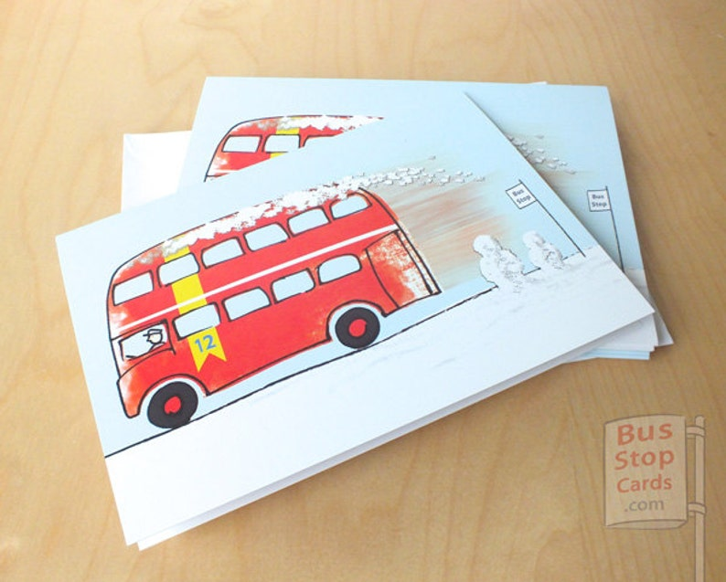 Routemaster London Bus Christmas Cards London Christmas Card image 0