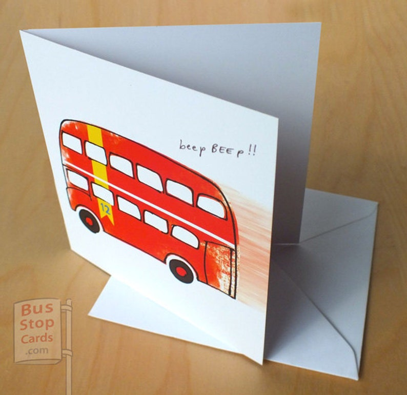 Routemaster London Bus Blank Greetings Card image 0