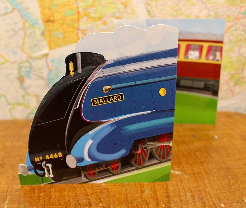 Mallard Steam Train Class A4 Greetings Card image 0