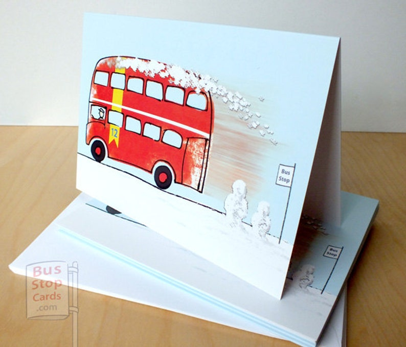 Routemaster London Bus Christmas Card Greetings Cards image 0