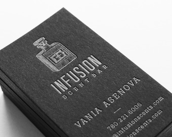 Letterpress business cards etsy 150 custom black letterpress business cards reheart Image collections