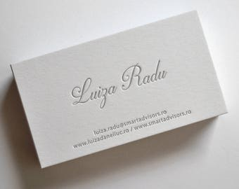 Letterpress business cards etsy 150 custom letterpress business cards reheart Gallery