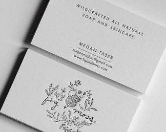 Letterpress business cards stationery by hippoatelier on etsy 150 double sided custom letterpress business cards colourmoves